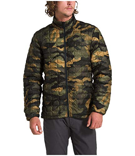 The North Face Men's Thermoball Eco Jacket, Burnt Olive Green Waxed Camo Print, Large