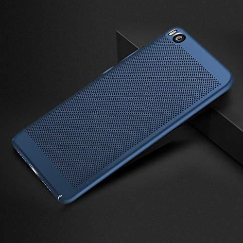 ZFLL Protezione dello Schermo Custodia per Telefono per Xiaomi Mi5 Mi5s Plus 360 Protezione Hollow Slim Matte Cover Rigida Cover Posteriore-per Xiaomi Mi5-Blue