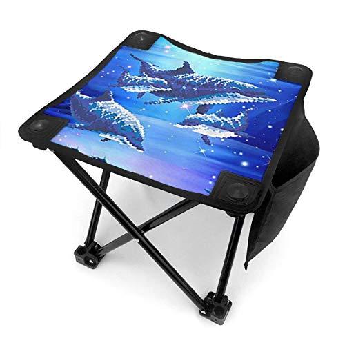 End Nazi Tabouret de Camping chaises Pliantes Pixel Trois Beaux Dauphins siège de Chaise Portable