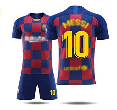 LHWLX 2019 Sportanzug Fußball-T-Shirt und Shorts Fußball Jersey Boy # 10 Fußball-Sportbekleidung Für Fußballfans Erwachsene & Kinder