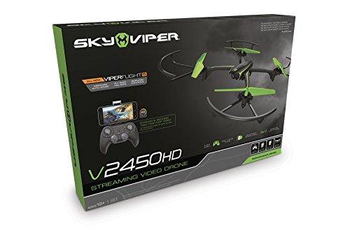 Goliath 90291 - Sky Viper HD Video Streaming Drohne, Quadrocopter mit 720p HD Kamera, Automatische Start-, Lande- und Schwebefunktion, 2,4 GHz, Einsteiger und Profi-Modus