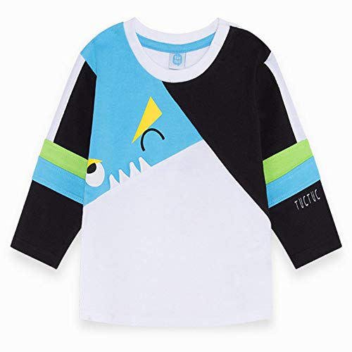 T-Shirt Jersey Manica Lunga Bambino Azzurro Funny Games