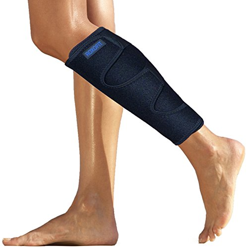 Calf Brace for Torn Muscle - Weightlifting Shin Guard - Neoprene Lower Leg Protection Gaiter Wrap from Strain Injury Tear Shin Splint - Calf Compression Sleeve Men Women