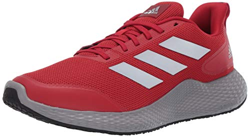 adidas Men's Edge Gameday Running Shoe, Team Power Red/Silver Met./core Black, 10.5 M US