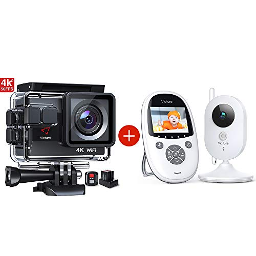 Victure Action Camera AC820 4K 50FPS 40M Waterproof and...