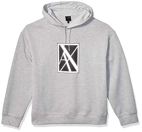 Armani Exchange A|X Herren Pullover Hoodie with Tonal Large AX Box Logo Sweatshirt, Brooks Legierung, XX