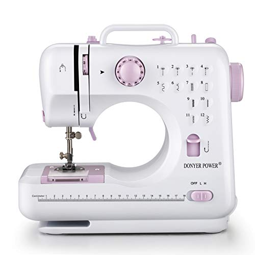 Electric Handheld Quilting Embroidery Overlock Quick Sewing Machine Household Sewing Tool 12 Stitches 2 Speed Heavy Duty Sew Machine Sewing Machine-Mini Electric Portable Sewing Machine