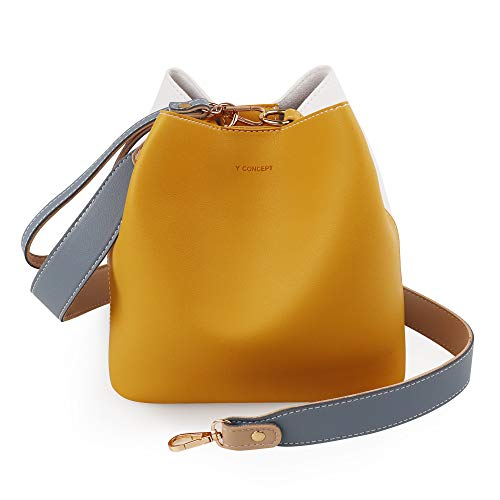 BUCKET BAG Women crossed body bag, hobo purse, perfect for day and night, by Y CONCEPT (Mustard)