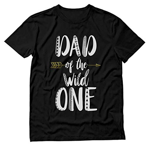 Dad of The Wild Shirt One Funny 1st Birthday T-Shirt X-Large...