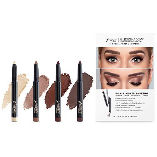 Xtreme Lashes Glideshadow Long Lasting Eyeshadow Stick Quad Collection, Amber Glow
