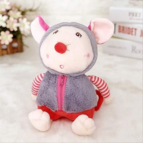 Nette Maus Tierpuppe Weiches Plüschspielzeug Schlafende Geburtstagsgeschenk Mädchen Dekoration Komfort 20 cm 20 cm d Laimi (Color : C, Size : 20cm)