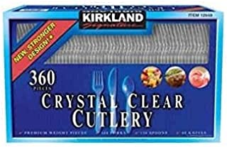 Doaaler(TM) Kirkland Signature Crystal Clear Cutlery 360 Count Box Plastic Cutlery - New