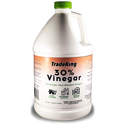 TradeKing 30% Vinegar - 1 Gallon of Concentrated Vinegar - Perfect for Home & Garden - All Natural Cleaning Solution, Stain Remover, Bleach and Ammonia Alternative