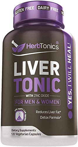 Liver Cleanse Detox & Repair Formula with Milk Thistle - Artichoke and 24 Herbs Liver Support Supplement: Silymarin, Dandelion and Chicory Root - 120 Vegan Capsules