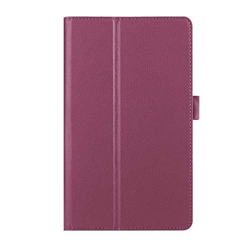 Litchi Stand PU Funda de Cuero para Lenovo Idea Tab 10.1 A10-70 A7600 A7600-h A7600-f Funda de Tableta de 10.1 Pulgadas-púrpura