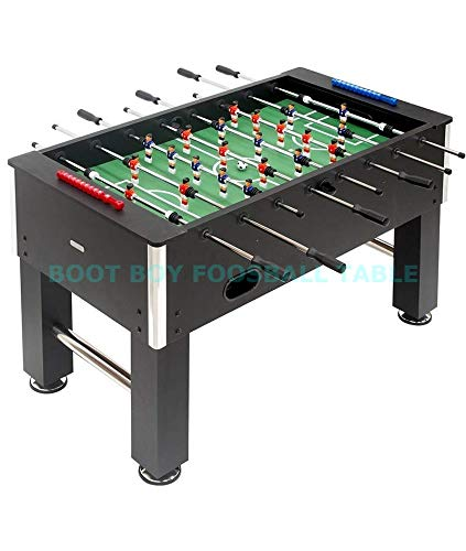 BOOT BOY 48' Foosball Table, Indoor Multi Person Table Soccer Game with 6 Balls, Foosball Table for Adults & Kids, Competition Sized Superior Sturdy Football Table for Leisure Play at Home, Office, Club & Cafe