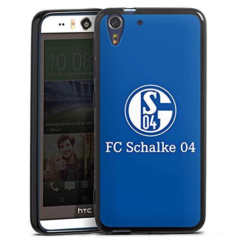 Silikon Hülle kompatibel mit HTC Desire Eye Hülle schwarz Handyhülle FC Schalke 04 Offizielles Lizenzprodukt S04