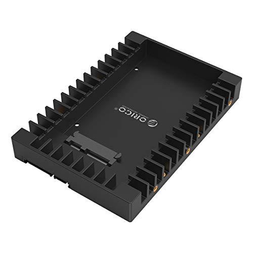 ORICO Adaptador de disco duro de 2,5 a 3,5 pulgadas – SSD HDD Soporte de montaje bandeja bandeja para disco duro SATA III de 2,5 pulgadas, soporte de plástico (no disipador térmico)