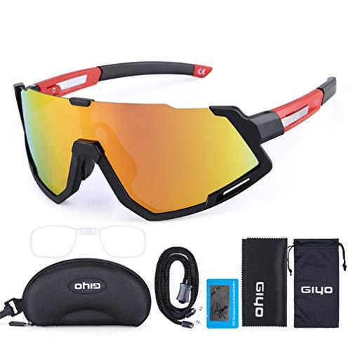 Gafas De Sol De Ciclismo Gafas De Bicicletas, Gafas De Ciclismo Al Aire Libre Gafas De Sol Polarizadas para Mujeres Y Hombres, Correr Pesca De Pesca Gafas De Béisbol De Golf,A