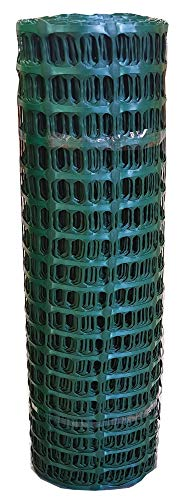 UvV-Reflex 12,5 kg sehr reißfester Kunststoffzaun in grün, Fangzaun Absperrzaun 50 Meter Rolle als Absperrnetz, Maschenzaun, Bauzaun Kunststoff extrem reissfest, 240 gr (12,0 kg)