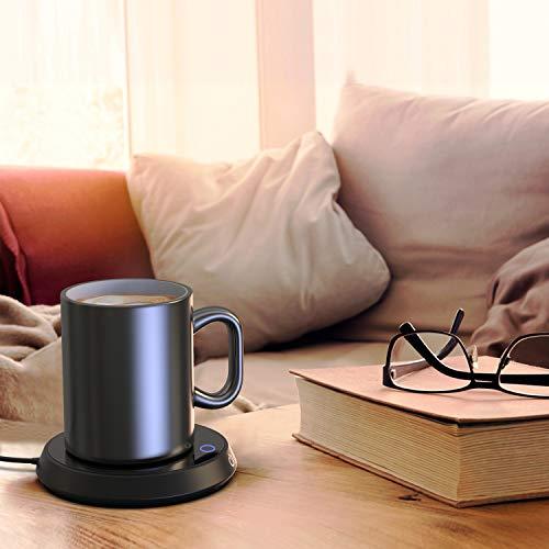Eneru カップウォーマー コーヒー保温 コップ保温器 コーヒーウォーマー 保温コースター 重力センサー付き 適温40℃-55℃ 水/牛乳/お茶/コーヒードリングなど飲み物保温用 デスク/オフィス/家庭用 友達/親友にプレゼント