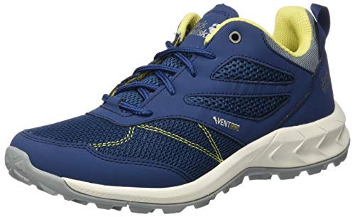 Jack Wolfskin Damen Woodland Vent Low W Cross-Trainer, Blau (Blue/Lemon 1596), 37.5 EU