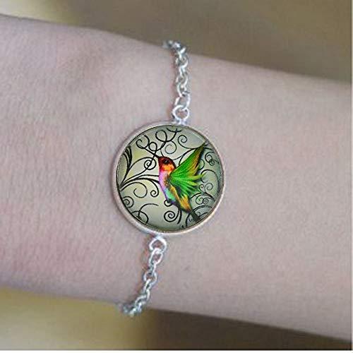 bab Pulseras de colibrí verde colgante de cita de la Biblia - Joyería religiosa