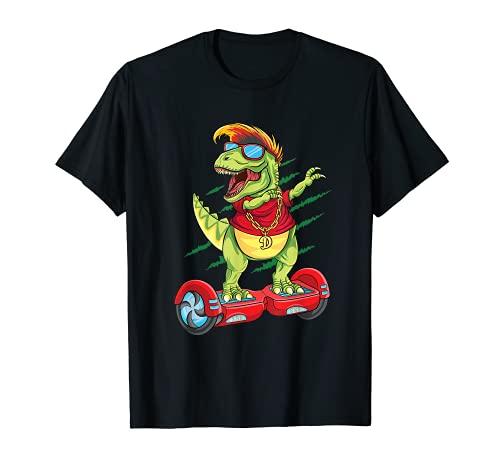 Dabbing Dinosaur Skater Electric Self Balancing Hoverboard T-Shirt