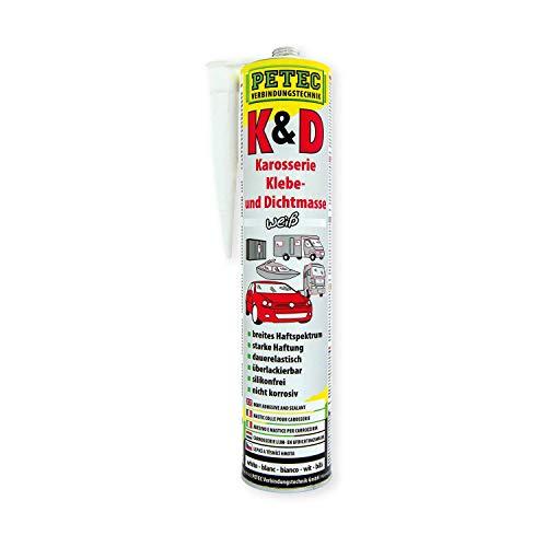 Petec 94530 Klebe und Dichtmasse Karosseriekleber weiss 310 ml