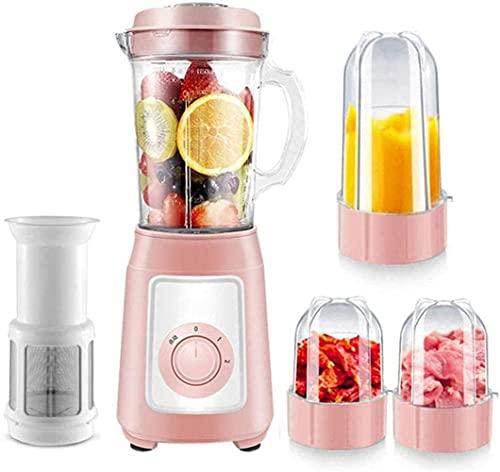 Blender Premium Smoothie Maker 300W, 22,000 Rev/Min, 1150 ml Jug (Tritan), Función de la trituradora de hielo, Tazón de mezcla adicional, Lavavajillas, Azul, C, Rosa, D ZJ666