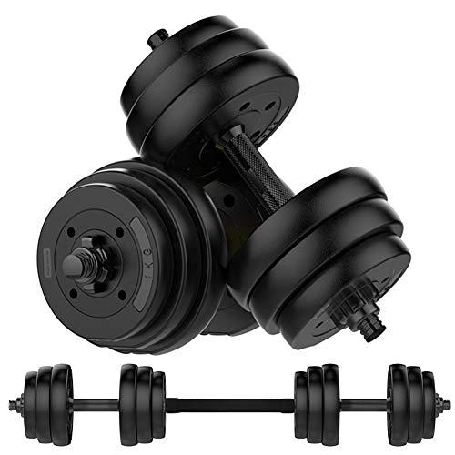 LW Haltères, Réglable avec Barre D'haltère Set Fini Opaque Chrome pour Body Building Workout Man Formation 10 Kg / 15 Kg / 20 Kg / 30 Kg / 40 Kg,Noir,40kg