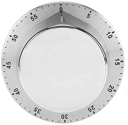 Tuffinix Mechanical Magnetic Kitchen Timer - Stainless Steel Countdown Timer with Loud Alarm for Chef Cooking Baking Washing and Any Other Timing Projects