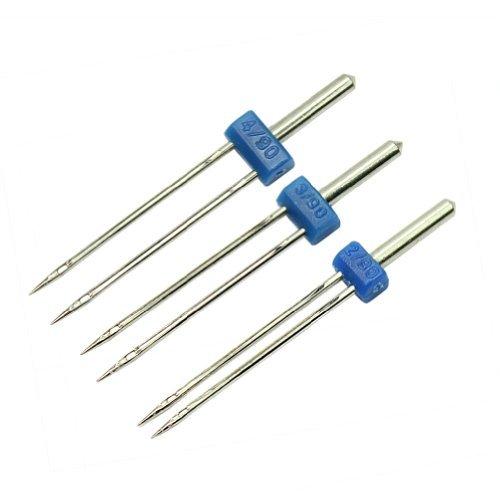 AllBeauty - 3 piezas de la alta calidad durable Doble Twin Needles alfileres de costura Accesorios de la máquina nueva