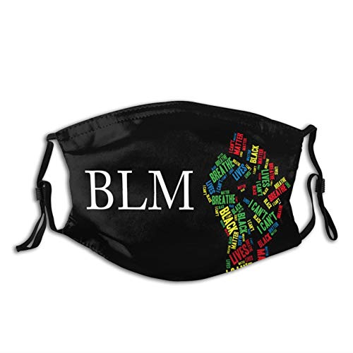 Black Lives Matter Blm Face Mask Washable & Reusable - Adjustable & Breathable Fliter Fashion Scarf