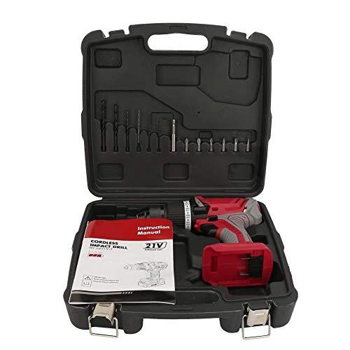 WEI-LUONG Tools Trapano elettrico, multifunzionale Cordless Impact Drill cacciavite elettrico Forza regolabile con luce a LED for Impact Drill Drill sul muro di cemento mattoni urto