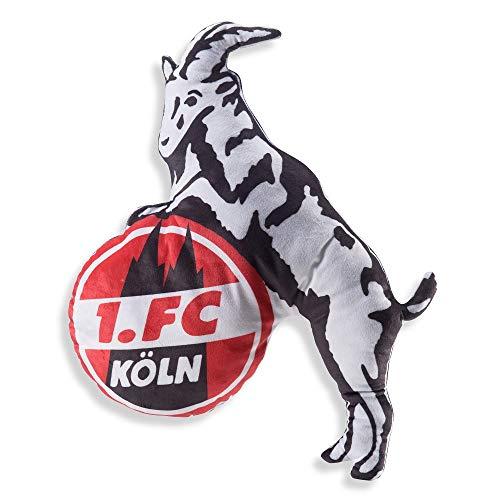 1.FC Köln Kissen Logo, Plüschkissen Hennes Schmusekissen, Zierkissen, Kuschelkissen - Plus Lesezeichen I Love Köln