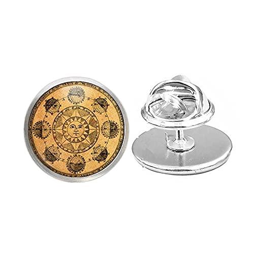 Astronomi brosch solstift astrologi smycken, konst glas kupolstift, brudtärna gåva födelsedagspresent -JV226