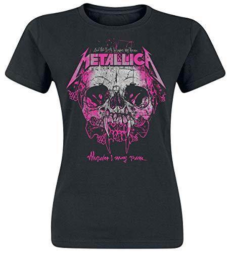 Metallica Wherever I May Roam Mujer Camiseta Negro L, 100% algodón, Regular