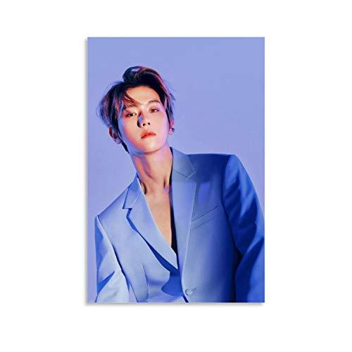 Kpop Poster Exo Love Shot Baekhyun Poster decorativo su tela da parete per soggiorno, camera da letto, 40 x 60 cm