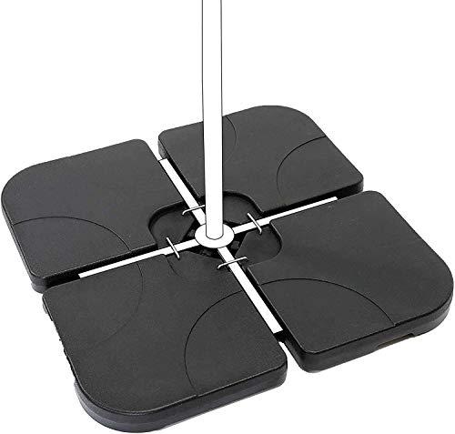 AKTIVE 62196 - Soporte parasol rellenable cuadrado 4 piezas