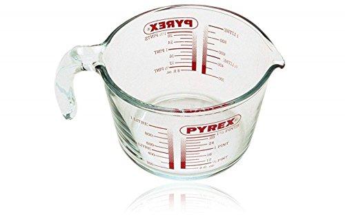 Pyrex Messbecher Fassungsvermögen Zwei Größe zur Auswahl NEU&OVP (1 Liter)