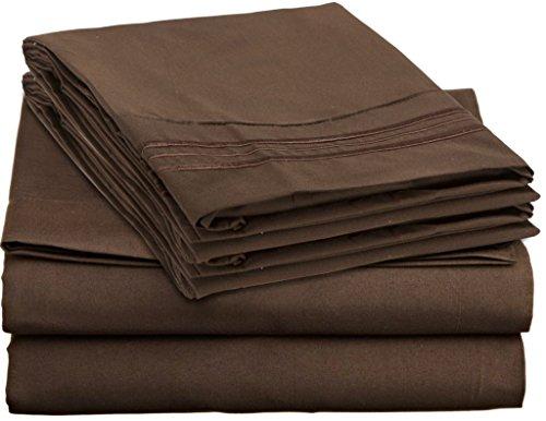 Clara Clark Bed Sheet Set, Schokolade Braun, Full
