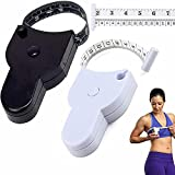 KFEK Automatic Telescopic Tape Measure 2 Pcs, Body Measure Tape 60inch, Self-Tightening Body Measuring Ruler, Lock Pin and Push-Button Retract, Measuring Waist and Arms(2 Pcs)