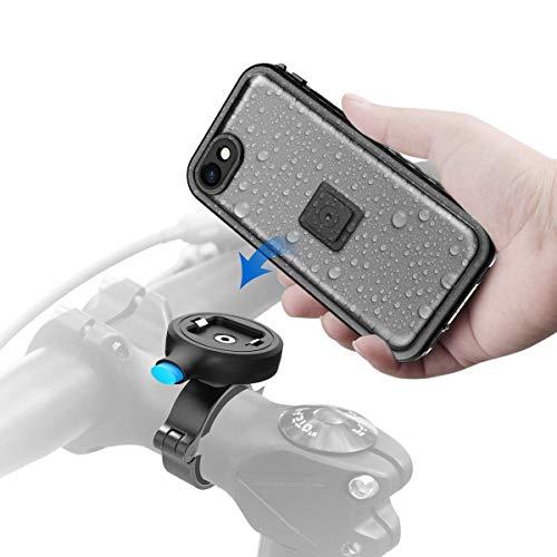 Cozycase Handyhalterung Fahrrad mit iPhone SE (2nd Gen)/ iPhone7/8 wasserdichte Hülle, stabile Motorrad Handyhalterung aus Metall (4,7