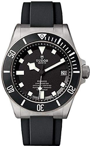 Tudor pelagos 25600tn caso titanio en negro correa de caucho reloj para hombre