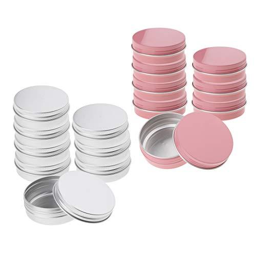 Envase de Aluminio Cosmético Del Bálsamo Labial Del Tarro de 16 Piezas 60ml