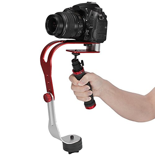 eoocvt Pro Handheld Steadycam Video Stabilizer Handle Grip Steady Support for Canon Nikon Sony Camera Cam Camcorder DV DSLR - Rubber Handle