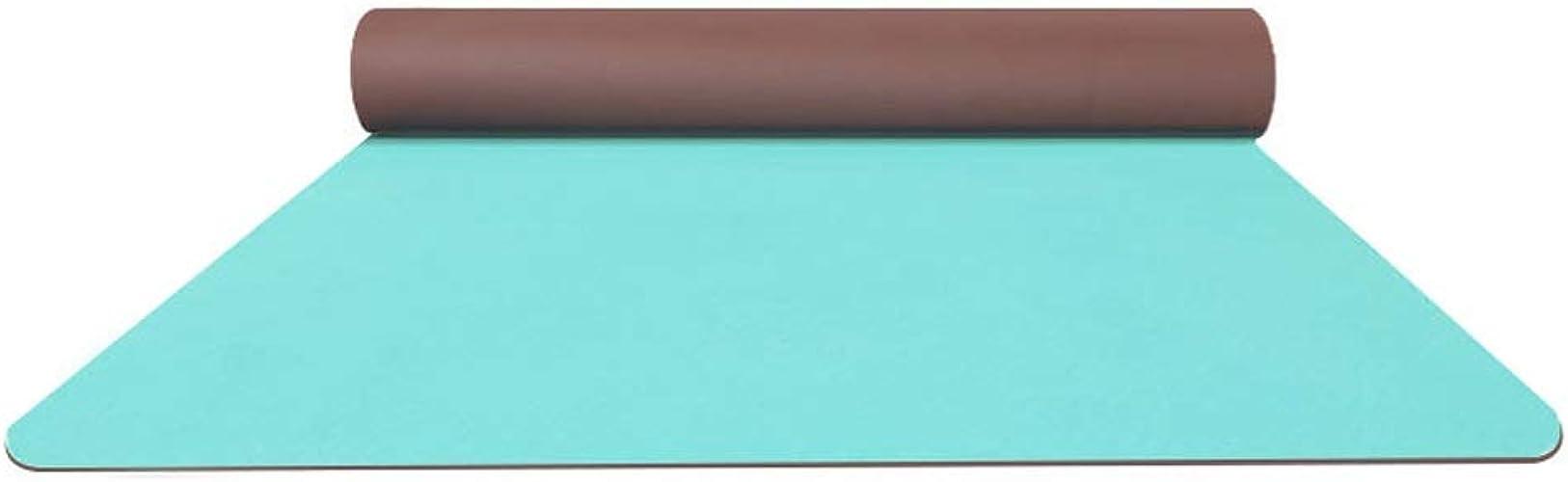 Tapis de Yoga TPE Tapis de Yoga Slip féminin 80cm épaississement élargi Long débutant Tapis de Fitness Yoga Tapis Maison LJJOZ (Couleur   bleu)