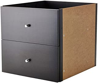 Ikea Insert with 2 drawers, black-brown 2026.262020.1838