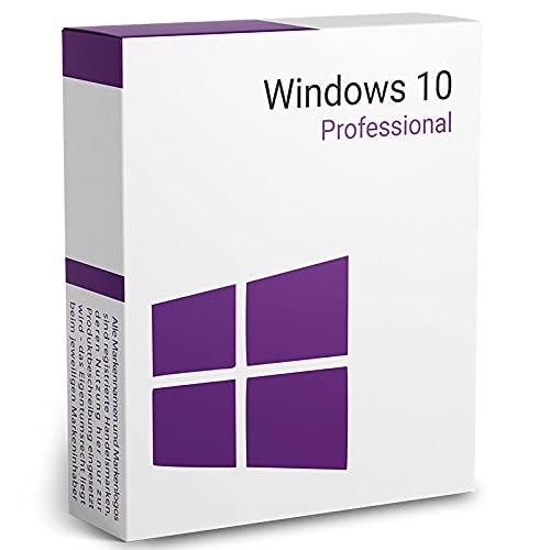 Licencia Windows Pro (Professional) 10 | Entrega digital por correo electrónico (max. 1 hora*) | Clave perpetua en Español | Actualización del sistema operativo de Home a Pro